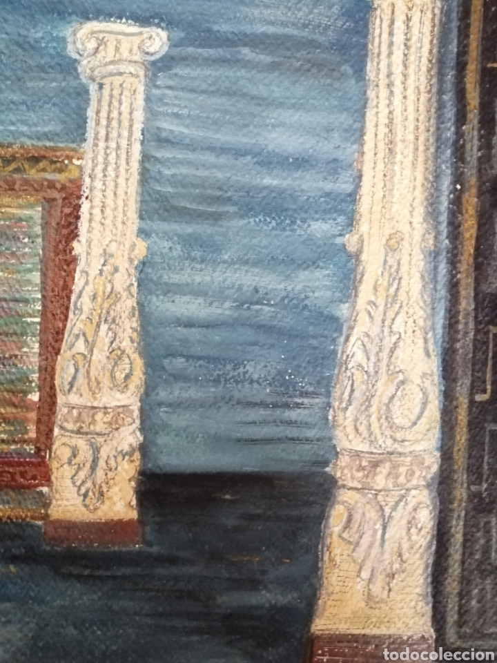 Arte: Escenografía. Pintura sobre cartón firmada. - Foto 4 - 175699722