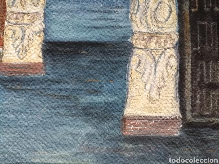 Arte: Escenografía. Pintura sobre cartón firmada. - Foto 6 - 175699722