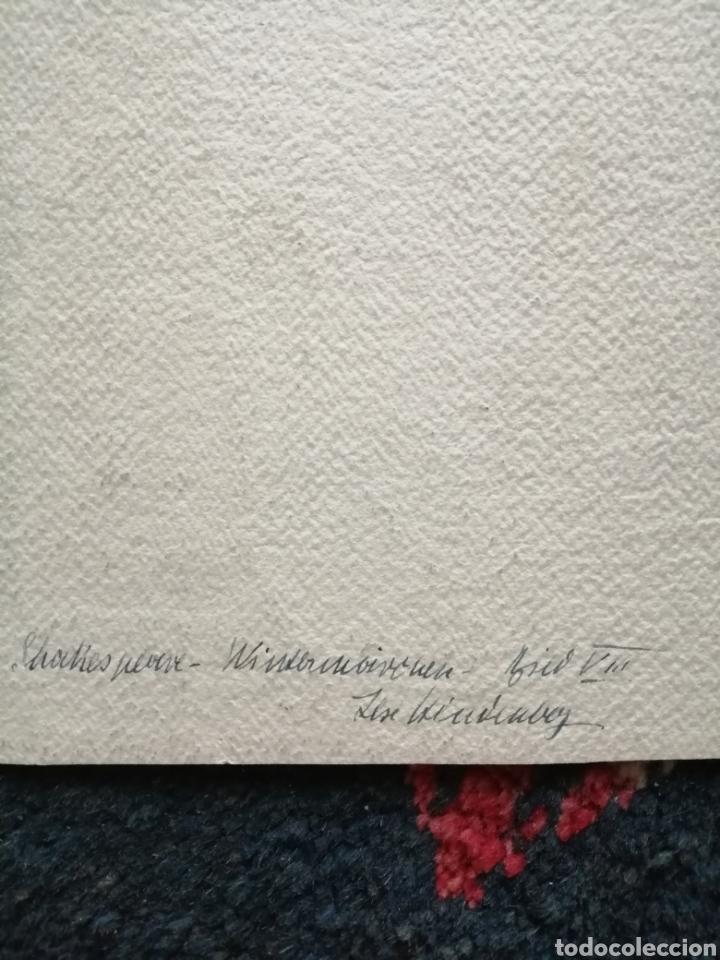 Arte: Escenografía. Pintura sobre cartón firmada. - Foto 8 - 175699722