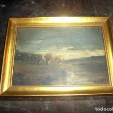 Arte: OLEO SOBRE TABLA, PAISAJE. Lote 175754428