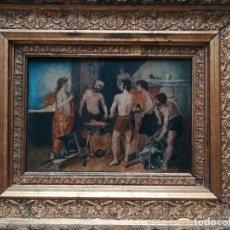 Arte: LA FRAGUA DE VULCANO , FIRMADO EN ENERO DE 1894. Lote 175754955