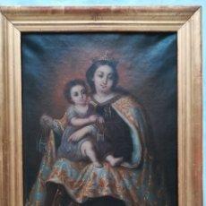 Arte: VIRGEN DEL CARMEN DE LA ESCUELA SEVILLANA SIGLO XIX. Lote 175758484
