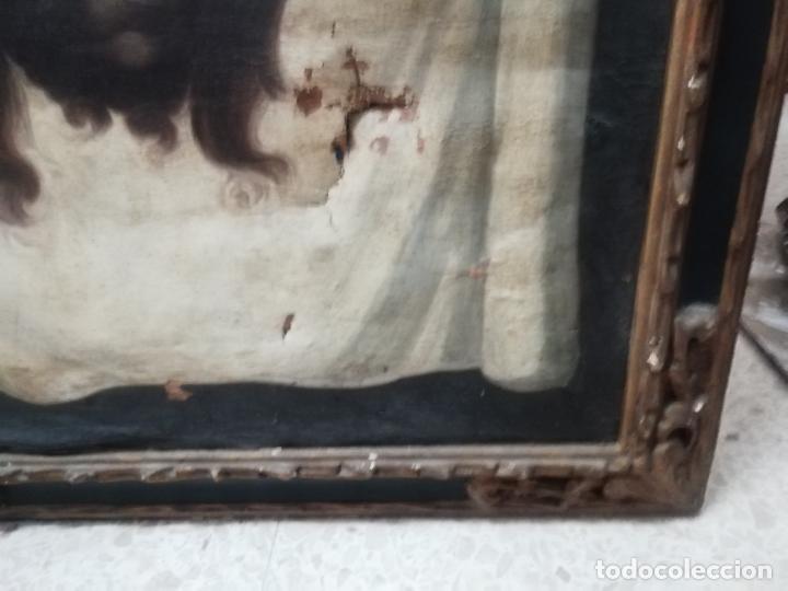 Arte: IMPRESIONANTE ÓLEO ANTIGUO EN TELA DE LA SANTA FAZ ,SIGLO XVII-XVIII. 67 X 57 CM. PIEZA DE MUSEO. - Foto 8 - 174997974