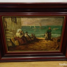 Arte: CUADRO OLEO SOBRE TABLA DE VALENCIAGA. Lote 175774463