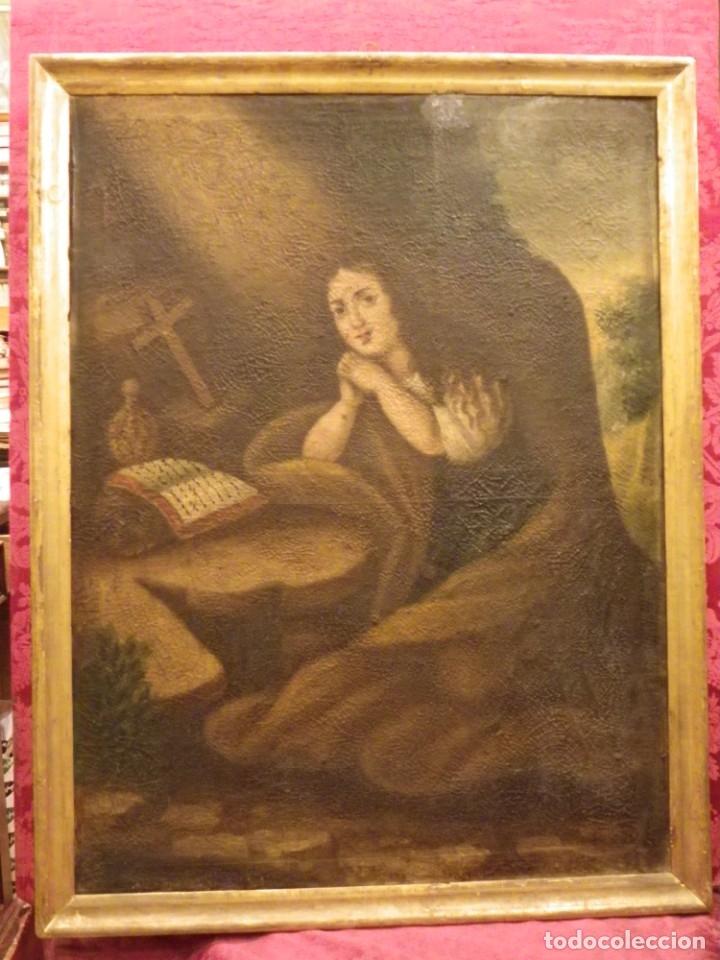 Arte: Magdalena penitente. óleo S-XVIII-XIX - Foto 20 - 165188474