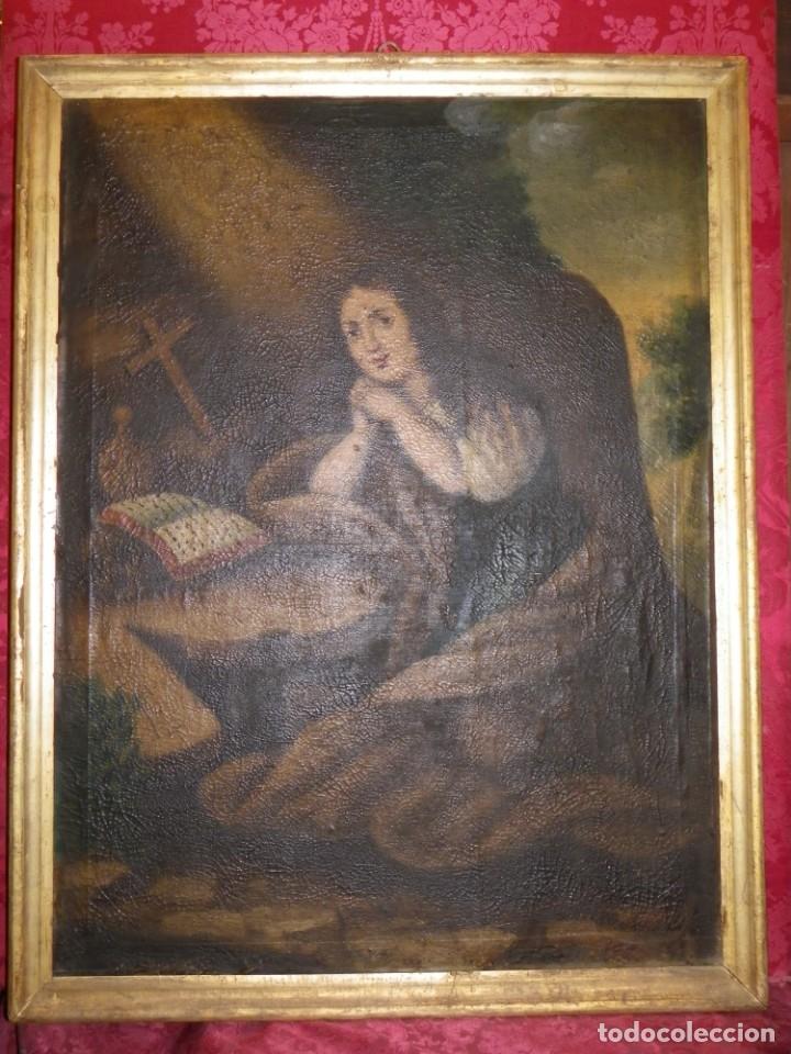 MAGDALENA PENITENTE. ÓLEO S-XVIII-XIX (Arte - Pintura - Pintura al Óleo Antigua siglo XVIII)