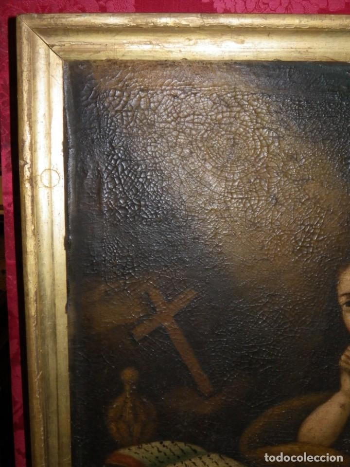 Arte: Magdalena penitente. óleo S-XVIII-XIX - Foto 21 - 165188474