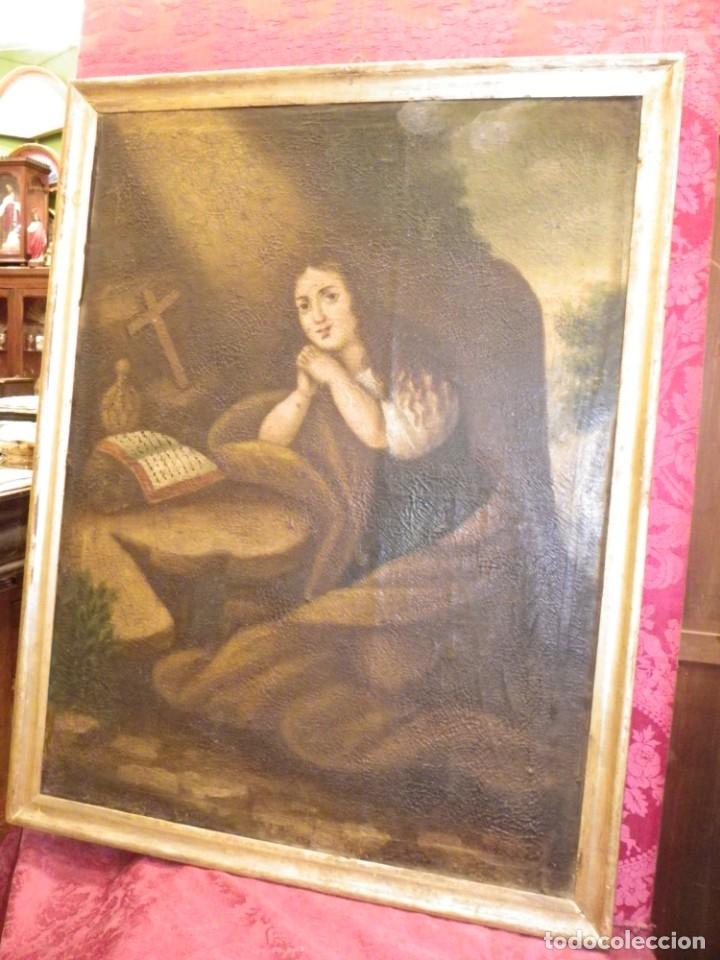 Arte: Magdalena penitente. óleo S-XVIII-XIX - Foto 24 - 165188474