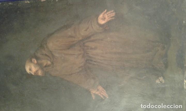 Arte: San Francisco. Óleo sobre cobre. Siglo XVII - XVIII. - Foto 2 - 175785964
