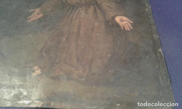 Arte: San Francisco. Óleo sobre cobre. Siglo XVII - XVIII. - Foto 5 - 175785964