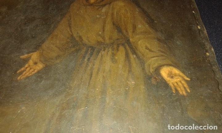 Arte: San Francisco. Óleo sobre cobre. Siglo XVII - XVIII. - Foto 6 - 175785964