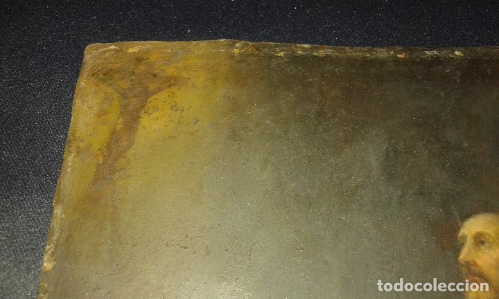Arte: San Francisco. Óleo sobre cobre. Siglo XVII - XVIII. - Foto 9 - 175785964