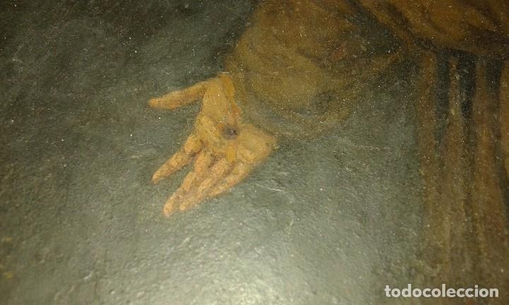 Arte: San Francisco. Óleo sobre cobre. Siglo XVII - XVIII. - Foto 10 - 175785964