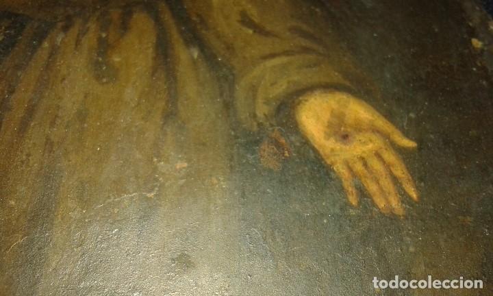 Arte: San Francisco. Óleo sobre cobre. Siglo XVII - XVIII. - Foto 11 - 175785964