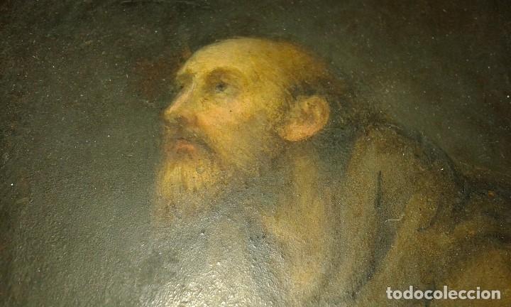 Arte: San Francisco. Óleo sobre cobre. Siglo XVII - XVIII. - Foto 12 - 175785964