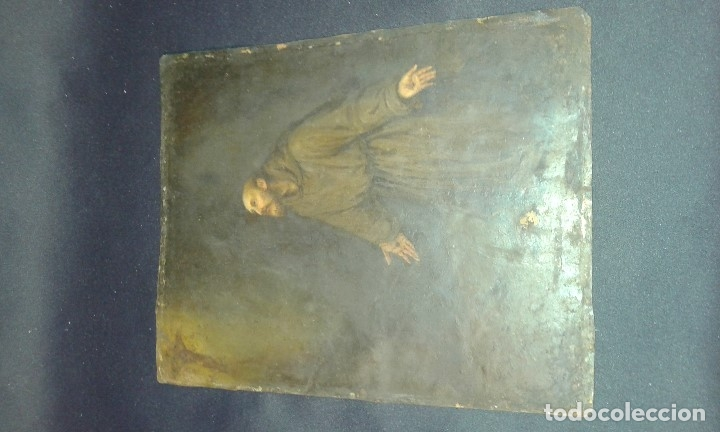 Arte: San Francisco. Óleo sobre cobre. Siglo XVII - XVIII. - Foto 17 - 175785964