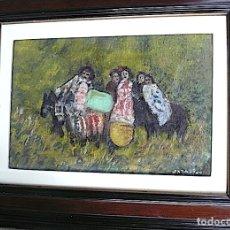 Arte: ANTONIO PAN - ÓLEO GITANOS. Lote 175838735