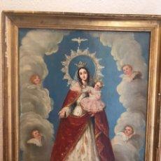 Arte: PINTURA AL ÓLEO DE VIRGEN CON NIÑO GRAN CALIDAD. Lote 175871732