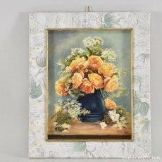 Arte: OLEO DE BODEGON DE FLORES. Lote 175878389