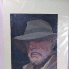 Arte: J.SANCHEZ DE SERDIO / ORIGINAL ÓLEO SOBRE CARTON (RETRATO). Lote 175911122