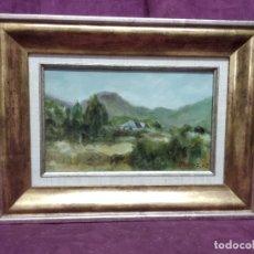 Arte: ÓLEO SOBRE LIENZO, EN MARCO DE MADERA AL ORO, ESCENA RURAL, FIRMADO M. MUÑOZ, 2002. Lote 175927087
