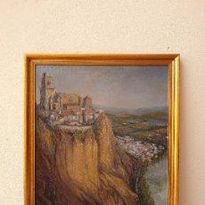 Arte: VISTA DE CIUDAD Y MAR. FIDEL TELLO REPISO. ÓLEO SOBRE TABLA.. Lote 175934259