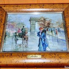 Arte: CUADRO PINTADO A OLEO ENMARCADO Y FIRMADO A.ANDRÉS. Lote 175919990