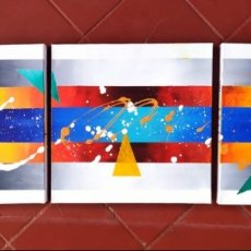 Arte: PAULA BALLESTA. CUADRO PINTURA ABSTRACTA. ACRILICO SOBRE LIENZO. 120X40. ARTE ABSTRACTO.. Lote 175982888