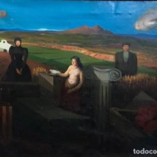Arte: RAMON CALSINA - ÓLEO SOBRE TELA -. Lote 175998807
