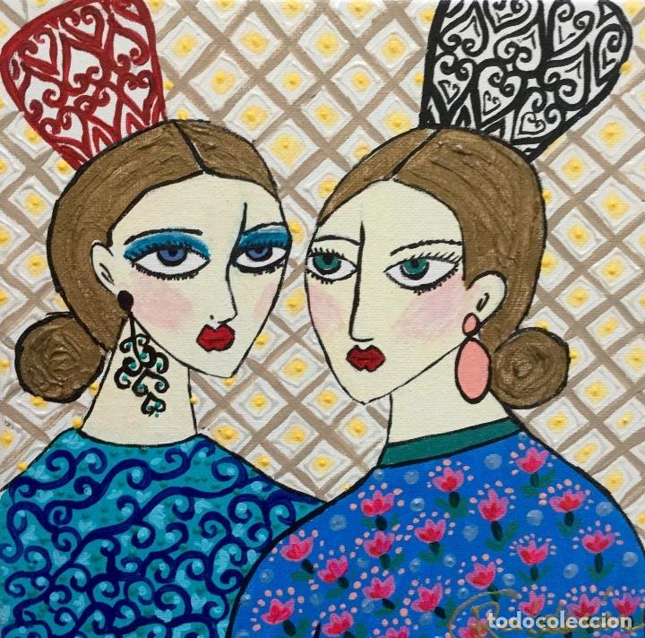 GITANAS CON PEINETAS OBRA DE RUTH CALDERÍN (Arte - Pintura - Pintura al Óleo Contemporánea )