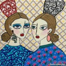 Arte: GITANAS CON PEINETAS OBRA DE RUTH CALDERÍN. Lote 176005443