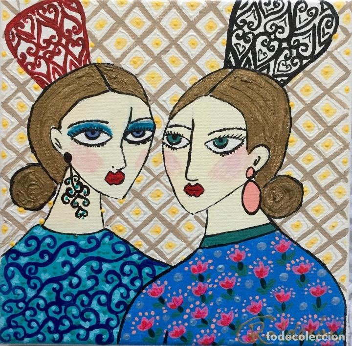 Arte: GITANAS CON PEINETAS Obra de Ruth Calderín - Foto 3 - 176005443