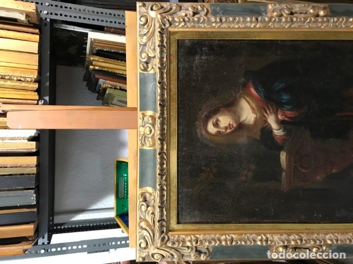 Arte: anunciacion de la virgen, esc. sevillana, siglo xvii - Foto 2 - 176098554