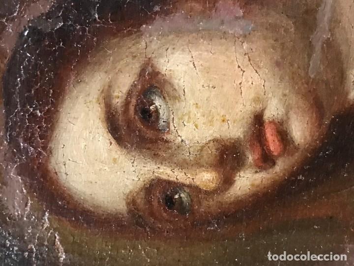 Arte: anunciacion de la virgen, esc. sevillana, siglo xvii - Foto 4 - 176098554