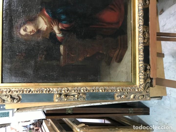 Arte: anunciacion de la virgen, esc. sevillana, siglo xvii - Foto 6 - 176098554
