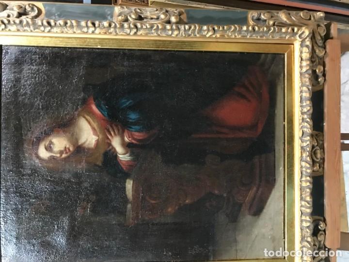 Arte: anunciacion de la virgen, esc. sevillana, siglo xvii - Foto 7 - 176098554