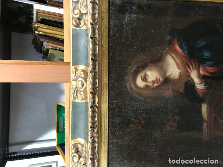 Arte: anunciacion de la virgen, esc. sevillana, siglo xvii - Foto 8 - 176098554