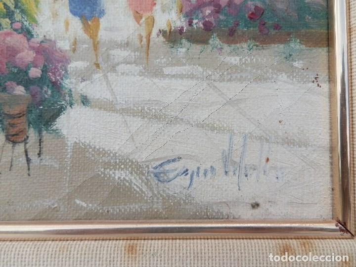 Arte: ÓLEO SOBRE TELA FIRMA ILEGIBLE. ENMARCADO. - Foto 4 - 176107228