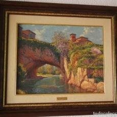 Art: EL PUENTE DE PIEDRA (1983) DE MIGUEL EGUILUZ. Lote 176117475