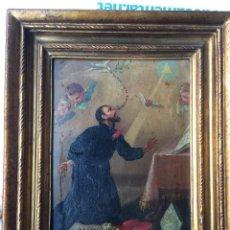 Arte: OLEO SOBRE COBRE S FRANCISCO JAVIER SIGLO XVIII PINTURA XIX MARCO. Lote 176119314
