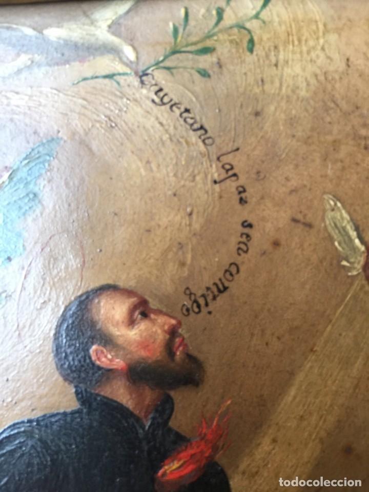 Arte: OLEO SOBRE COBRE S FRANCISCO JAVIER SIGLO XVIII PINTURA XIX MARCO - Foto 2 - 176119314