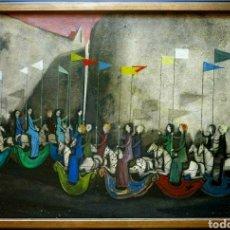 Arte: ANTONIO MENEGAZZO, PRECIOSA PINTURA VINTAGE FIRMADA.. Lote 176149657
