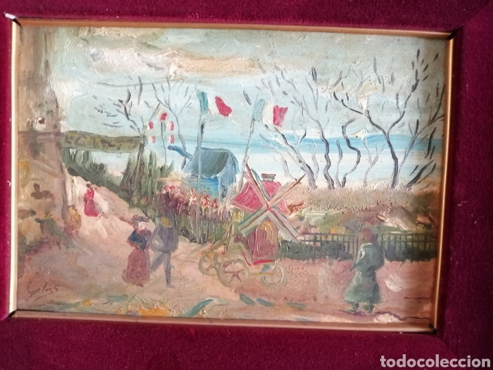 Arte: Leonie Lebas siglo XIX y XX. Óleo sobre lienzo firmado. - Foto 2 - 176201592
