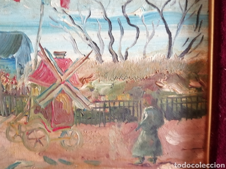 Arte: Leonie Lebas siglo XIX y XX. Óleo sobre lienzo firmado. - Foto 3 - 176201592