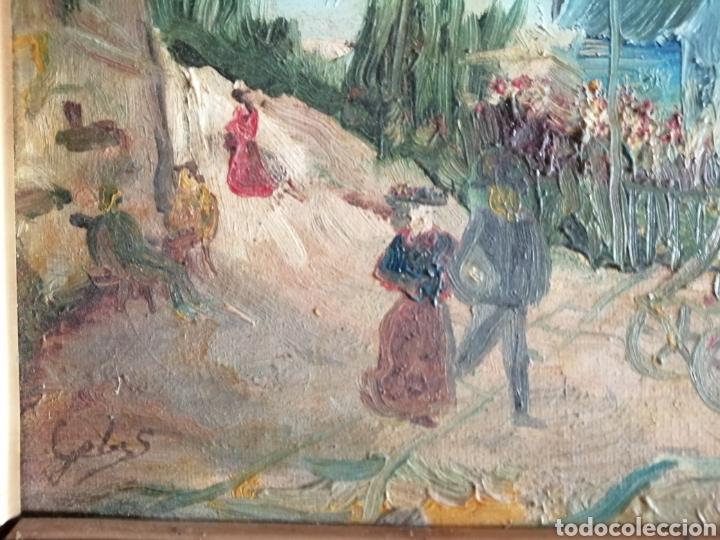 Arte: Leonie Lebas siglo XIX y XX. Óleo sobre lienzo firmado. - Foto 4 - 176201592