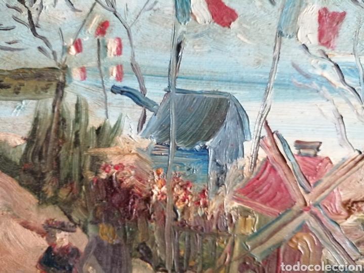 Arte: Leonie Lebas siglo XIX y XX. Óleo sobre lienzo firmado. - Foto 5 - 176201592