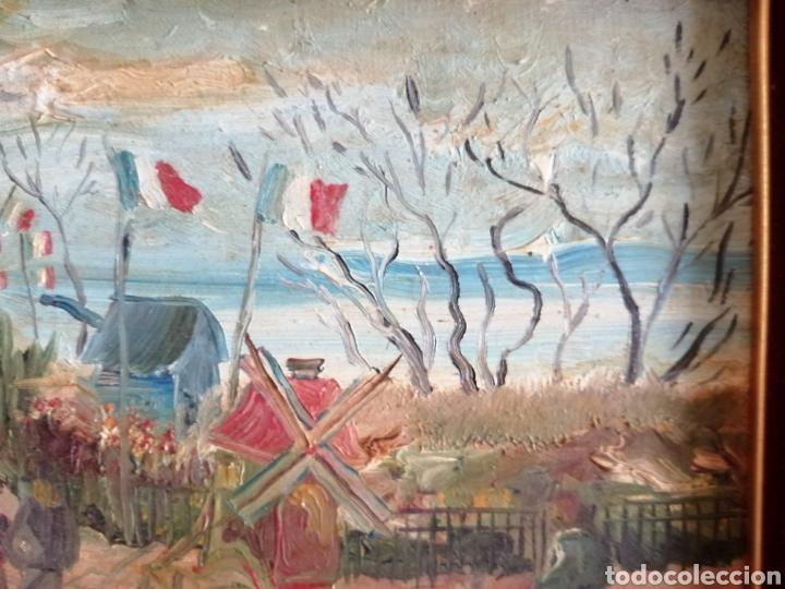 Arte: Leonie Lebas siglo XIX y XX. Óleo sobre lienzo firmado. - Foto 6 - 176201592