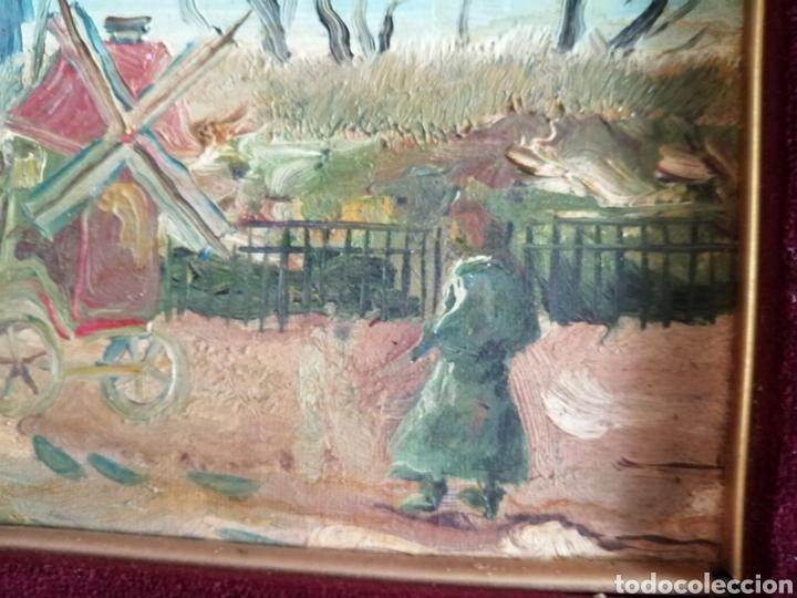 Arte: Leonie Lebas siglo XIX y XX. Óleo sobre lienzo firmado. - Foto 7 - 176201592