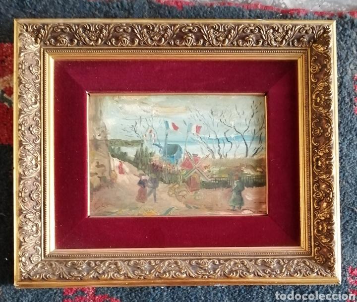 Arte: Leonie Lebas siglo XIX y XX. Óleo sobre lienzo firmado. - Foto 8 - 176201592