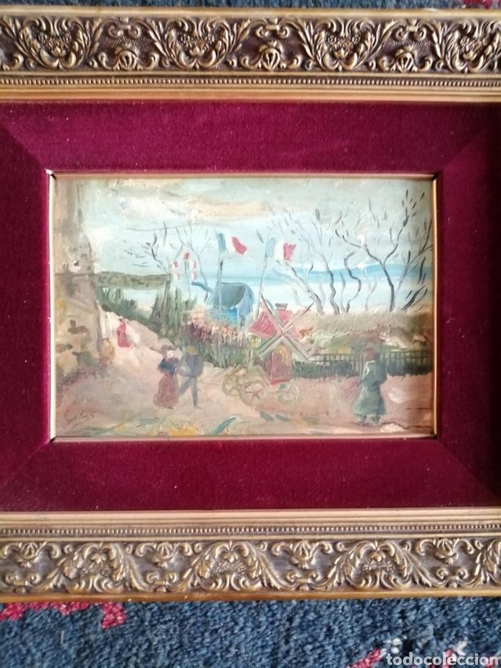 Arte: Leonie Lebas siglo XIX y XX. Óleo sobre lienzo firmado. - Foto 9 - 176201592